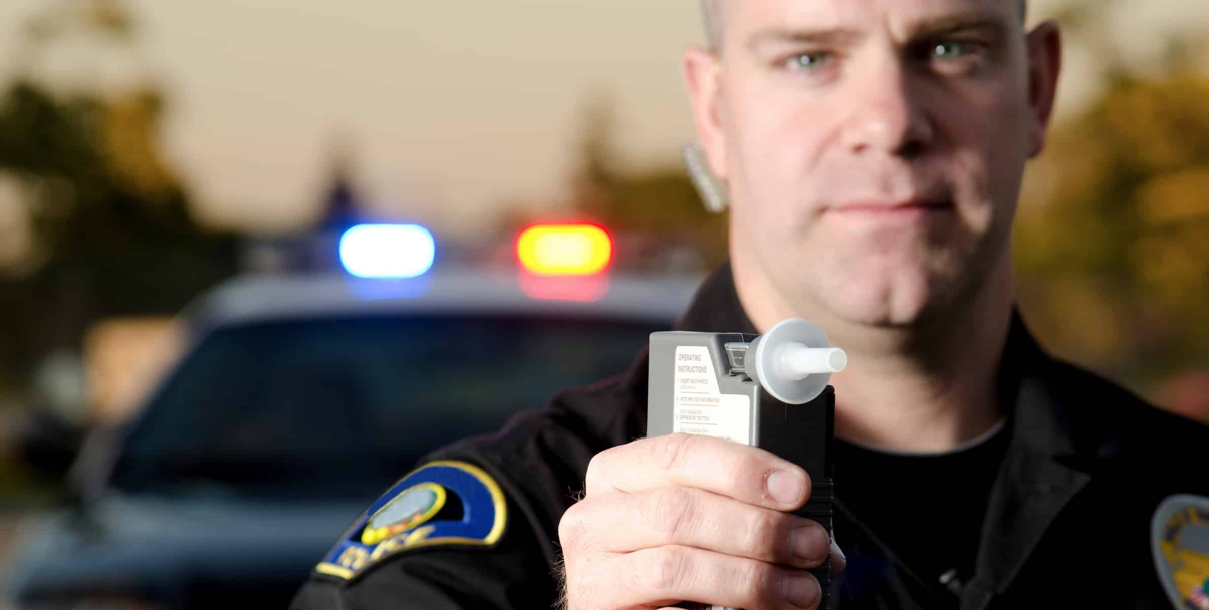 Police DWI Tests Portable Breath Test and DWI Blood Test field sobriety test opinion crime